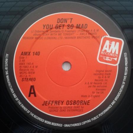 Jeffrey Osborne - Dont You Get So Mad