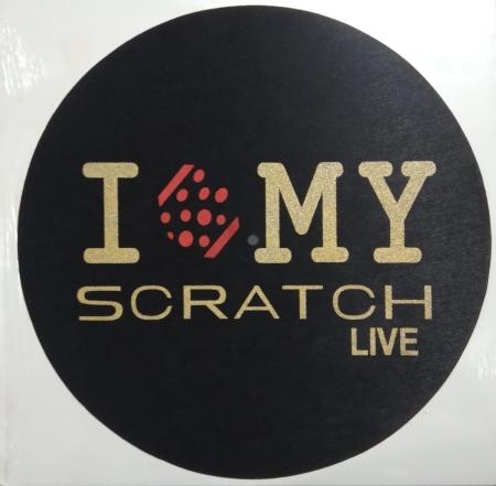 Feltro Fino - I Love My Scratch Live (Preto, Vermelho e Dourado) (Unidade)