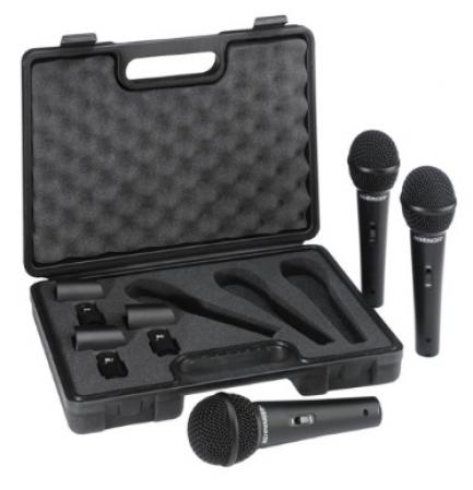 Kit Com 3 Microfones Behringer XM1800S