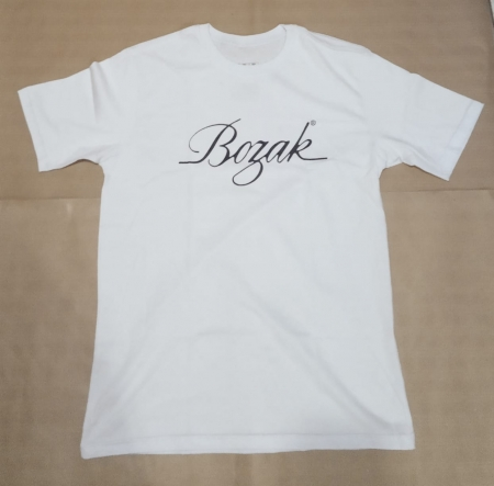 Camiseta Bozak Branca com Estampa Preta (M)