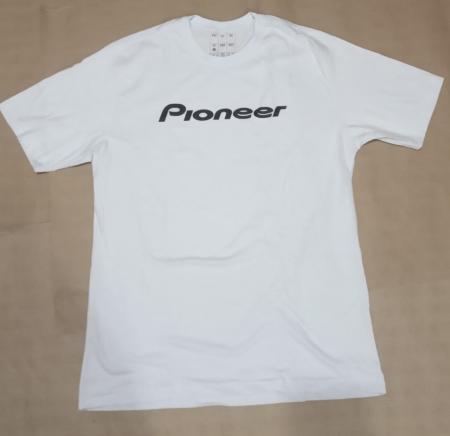 Camiseta Pioneer Branca com Estampa Preta (G)