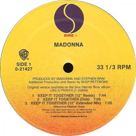Madonna - Keep It Together (Capa Genérica)