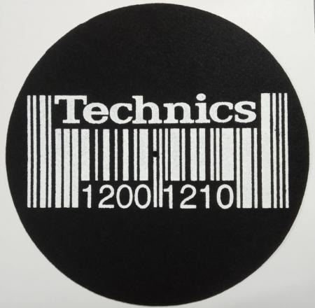 Feltro Grosso - Technics Barcode (Preto e Branco) (Unidade)