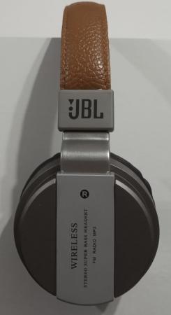 Headphone JBL B55 (Cinza, Alça Marrom e Espuma Preta)