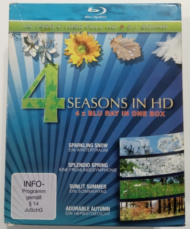 Blu Ray - Various - 4 Seasons In H.D. 4x Blu Ray In One Box