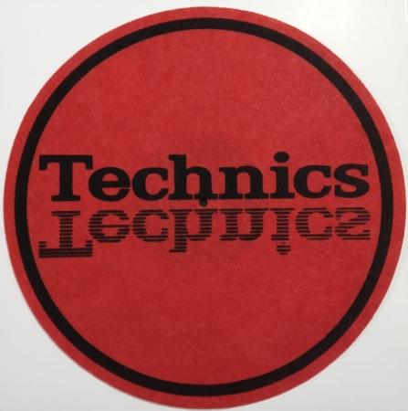 Feltro Grosso - Technics Reverse (Vermelho e Preto) (Unidade)